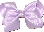 Toddler Solid Color Bow Lavender