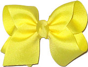 Toddler Solid Color Bow Lemon