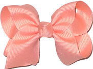 Toddler Solid Color Bow Light Coral