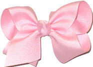 Toddler Solid Color Bow Light Pink