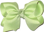 Toddler Solid Color Bow Lime Juice
