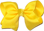 Toddler Solid Color Bow Maize