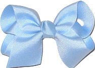 Toddler Solid Color Bow Millenium Blue