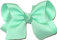 Toddler Solid Color Bow Mint
