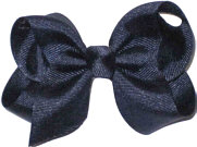 Toddler Solid Color Bow Navy