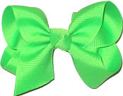 Toddler Solid Color Bow Neon Green