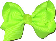 Toddler Solid Color Bow Neon Lime