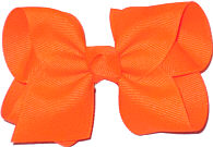 Toddler Solid Color Bow Neon Orange
