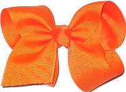 Toddler Solid Color Bow Orange