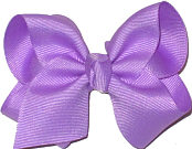 Toddler Solid Color Bow Orchid