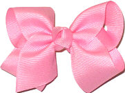 Toddler Solid Color Bow Pink