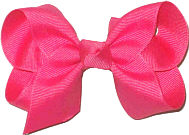 Toddler Solid Color Bow Raspberry Rose