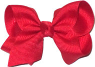 Toddler Solid Color Bow Red