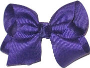 Toddler Solid Color Bow Regal Purple