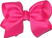 Toddler Solid Color Bow Shocking Pink