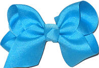 Toddler Solid Color Bow Turquoise