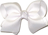 Toddler Solid Color Bow White