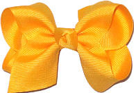 Toddler Solid Color Bow Yellow Gold