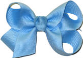 Small Solid Color Bow 312 Blue