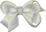 Small Solid Color Bow Antique White