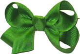 Small Solid Color Bow Apple Green