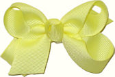 Small Solid Color Bow Baby Maize