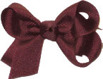 Small Solid Color Bow Burgundy