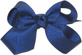 Small Solid Color Bow Century Blue