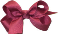 Small Solid Color Bow Colonial Rose