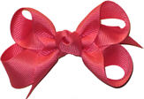 Small Solid Color Bow Coral Rose