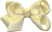 Small Solid Color Bow Creme