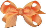 Small Solid Color Bow Cremesicle