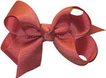 Small Solid Color Bow Dusty Rose