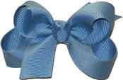 Small Solid Color Bow French Blue