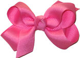 Small Solid Color Bow Hot Pink