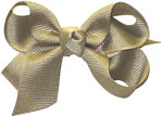 Small Solid Color Bow Khaki