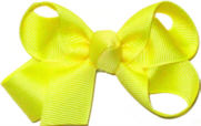 Small Solid Color Bow Lemon
