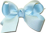 Small Solid Color Bow Light Blue