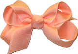Small Solid Color Bow Light Coral