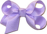 Small Solid Color Bow Light Orchid