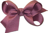 Small Solid Color Bow Mauve