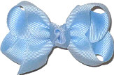 Small Solid Color Bow Millenium Blue