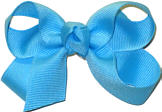 Small Solid Color Bow Mystic Blue