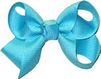 Small Solid Color Bow Navajo Turquoise