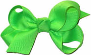 Small Solid Color Bow Neon Green