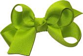 Small Solid Color Bow New Lime