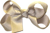 Small Solid Color Bow Oatmeal