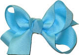 Small Solid Color Bow Ocean Blue