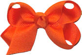 Small Solid Color Bow Orange
