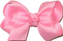 Small Solid Color Bow Pink